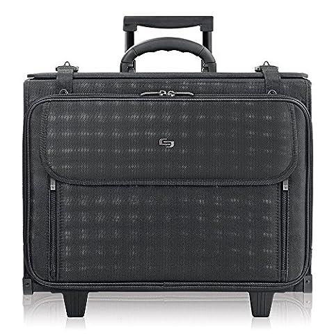 Solo Laptop Pilot Case Rolling Nylon Telescopic Handle holds 15.4 inch W445xD210xH330mm Black Ref B151