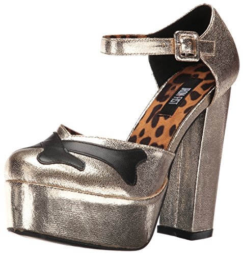 Iron Fist Damen Hey You Guys Holiday Platform Mary Jane Halbschuhe Gold (Gold)