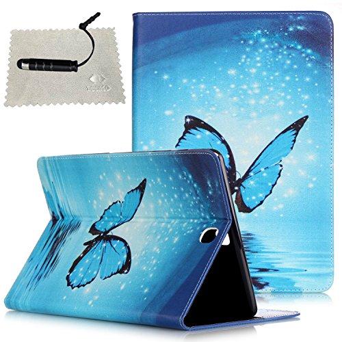 TOCASO Hülle für Samsung Galaxy Tab E 9.6,Tasche für Samsung Galaxy Tab E 9.6 Leder, Galaxy Tab E 9.6 Schutzhülle Flip Case Cover Eingebautem r für Samsung Galaxy Tab E 9.6 Zoll T560 Stift (Blau)