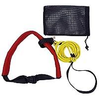 Swim Bungee Training Belt Swim Resistance Belt Swim Exerciser Belt Swim Tether (One Waist Strapk, One Bungee Cord, One Loop), with YYST Storage Mesh Bag