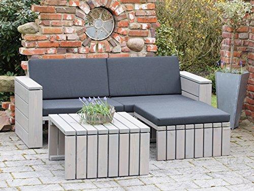 binnen-markt Loungemöbel Set 6 Holz, inkl. Polster - Lieferung komplett montiert -
