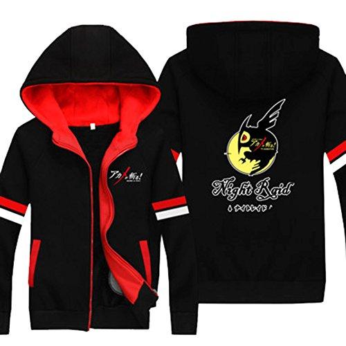 Cosplay Kostüm Kapuzen Pullover Hoodie Zip Jacke Sweatshirt Baumwolle Dick Top Kleidung Mantel Anime Verrücktes (Red Velvet Kapuzen Mantel Kostüme)