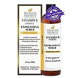 Exfoliante facial con vitamina E 100% natural El exfoliante rico y cremoso con perlas de jojoba + ácido alfa hidroxi ayuda a lavar, limpiar y exfoliar la cara.