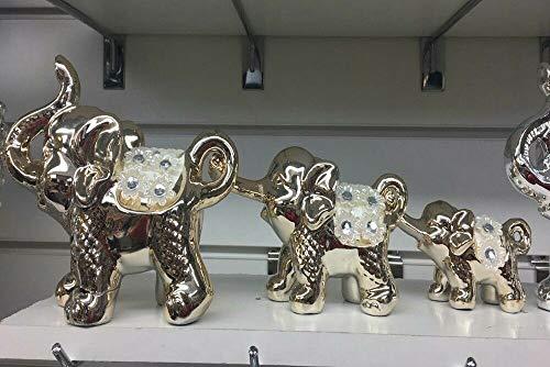 Amazing Crystal Gifts - Juego de 3 Elefantes Italianos para decoración de...