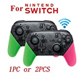 MeterMall Elektronik für NS Switch Pro Splatoon2 Xenoblade Bluetooth Wireless Gamepad Remote Controller Joypad für Nintend Switch Game Player Konsole Joystick Splatoon2 2 Stück