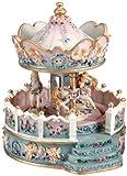 Spieluhrenwelt 14111 - Carillon Carosello motivo angeli con veranda