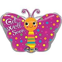 Palloncino farfalla di buona guarigione Get Well Soon statuetta decorativa multicolore circa 33x 45cm adatto a gas per palloncini