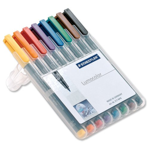 brand-new-staedtler-318-lumocolor-pen-permanent-fine-06mm-assorted-ref-318wp8-wallet-8