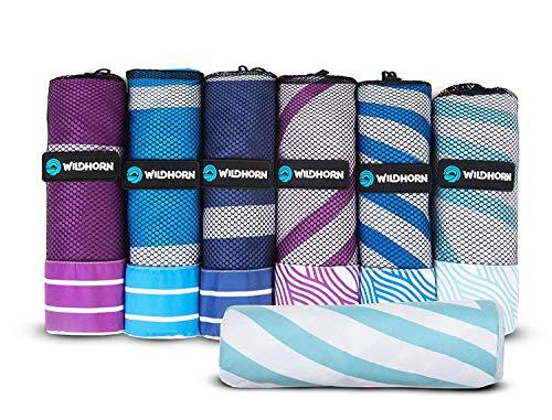 Toalla de playa de microfibra Akumal. Toalla de viaje de secado rápido, ultra compacta, extra absorbente 198,10x88,90cm. Ideal para viajes a la playa y camping. Viaja mejor que las toallas de playa.