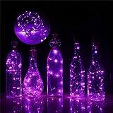 Mitlfuny 3 Meter 30 LED Warmweiß Kupferdraht Lichter String Starry LED Lichter FüR Flasche DIY,Party,Dekor, Weihnachten, Halloween Oder Stimmung Lichter