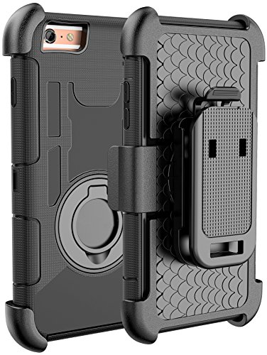 iPhone 6S Case, iPhone 6S / 6 Holster Defender Case E LV Shock-Absorption / High Impact Resistant Armor Holster Defender Case Cover with Kickstand and Belt Swivel Clip for iPhone 6S / iPhone 6 with 1 Stylus, 1 Screen Protector and 1 Microfiber (Black circle)  available at amazon for Rs.2049
