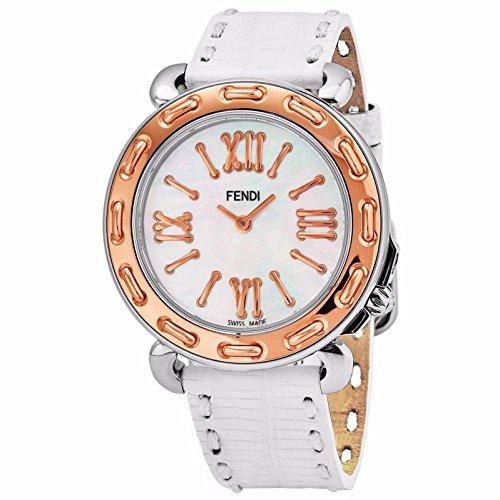 Fendi Women's Selleria 35mm Leather Band Swiss Quartz Watch F8002345H0.TSN0