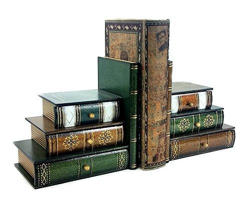 Nouveau Style Classique en bois Serre-livres livre Bibliothèque W/Hidden tiroirs