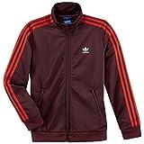 Adidas FIREBIRD TT J Kinder Jacke, Trainingsjacke Farbe: Braun-Rot; Größe: 92