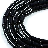 AqBeadsUk Semi-Precious Crystal Energy Stones with Natural Healing Power - Premium Genuine Black