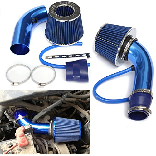 Universal Performance Cold Air Intake Filter Alumimum Induction Pipe Hose System, Blau - Intake Cold Air Systeme