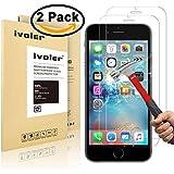 [2 Pack] iPhone 6s / iPhone 6 Protector de Pantalla, iVoler® [3D Touch Compatibles] Protector de Pantalla de Vidrio Templado Cristal Protector para Apple iPhone 6s y iPhone 6 4.7''-Dureza de Grado 9H, Espesor 0,30 mm, 2.5D Round Edge-[Ultra-trasparente] [Anti-golpe] [Ajuste Perfecto] [No hay Burbujas]- Garantía Incondicional de 18 Meses