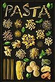 Food Pasta Spaghetti Werbung Papier Poster Maßnahmen 91,4x 61cm (91,5x 61cm) ca.