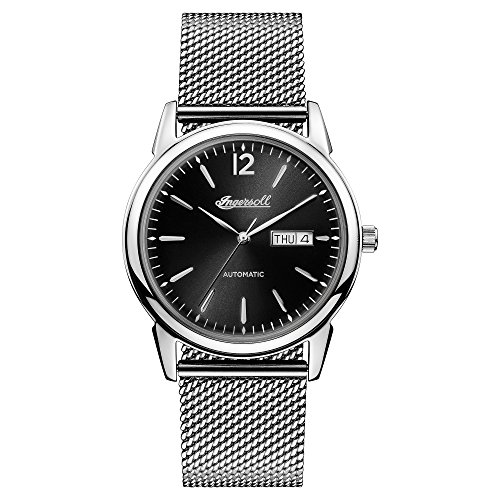 Ingersoll Men's The New Haven Automatic Watch withSchwarz Dial and Silber Stainless Steel Bracelet I00505