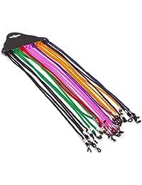 Vococal - 12 piezas Gafas de Sol Soporte Retenedor Elástico Correa para Cuello Retén Cable Nylon para Gafas de Lectura Anteojos/Accesorios para Gafas,Colors