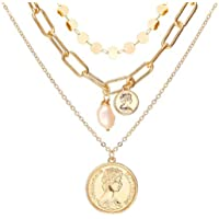 Jewels Galaxy Gold Plated Trending Coin inspired Layered Necklace Set