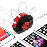 BESTEK Caricabatterie Universali da Tavolo Portabile 3 Porte USB e 1 Tipo-C Adattatore da Viaggio per iPhone iPad Tablet Smartphone, Nero【PRESA EUROPEA】