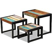 Amazon.it   Tavolini sovrapponibili per soggiorno