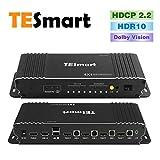 TESmart 4 x 1 HDMI KVM Switch HDMI 4 K 3840 x 2160 @ 60 Hz 4:4:4 con 2 cavi KVM da 1,5 m, supporta dispositivi USB 2.0 per controllare fino a 4 computer/server/DVR (nero)