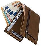 Geldbörse mit Münzfach - TÜV geprüft RFID Schutz 13 Kartenfächer Davon 4 versteckte - Ideal als Geschenk für Herren - Geldbeutel braun mit Edler Geschenkbox – Dolphin