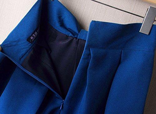 uideazone Fashion Womens Sommer Midi Gefaltete Röcke High Taille Knielangen Rock