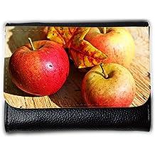 le portefeuille de grands luxe femmes avec beaucoup de compartiments // M00241501 Las frutas de manzana roja madura otoño // Medium Size Wallet