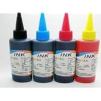 4 x Recarga Tinta 100 ml Universal para Impresora Hp Canon Lexmark Dell Epson Brother Samsung Oki Xerox Compatible con todas las impresoras de Inyeccion Color 561