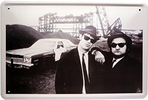 Blechschild The Blues Brothers 20 x 30cm Reklame Retro Blech 1104