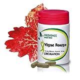 VIGNE ROUGE - 60 gélules à base de plantes et d'actifs naturels - Veinotonique pour améliorer la circulation - Permet de retrouver...