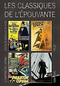 Coffret 4 DVD les classiques de l'épouvante : Nosferatu, Faust (Version Sépia), Dr Jekyll & Mr Hyde (Version Teintée), Le fantôme de l'opéra (Version Teintée)