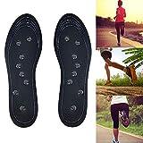 AIDUE Magnetische Einlegesohlen, Schuh Massageeffekt Einlagen Atmungsaktive orthopädische Gel- Pads für Männer, Frauen, Anti-Fasciitis Entlasten Füße Schmerze