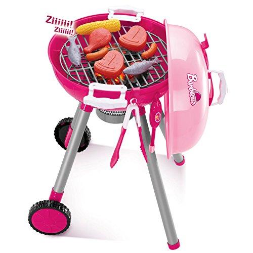Kinder-BBQ / Grill mit viel Zubehör / Spielküche (pink)