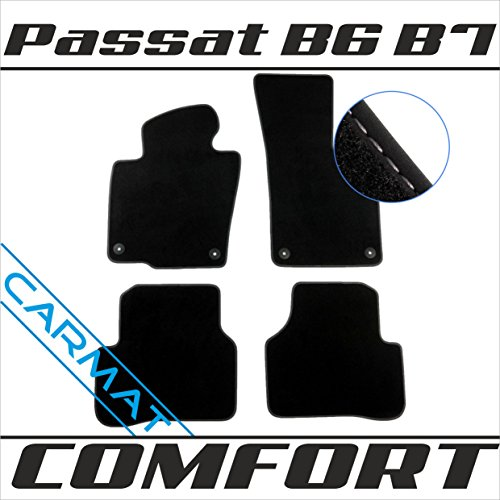 Passat 2010-fußmatten Vw (VVVV Passat B6 B7 3C Bj. 2005-2014 Fussmatten Autoteppiche COMFORT)