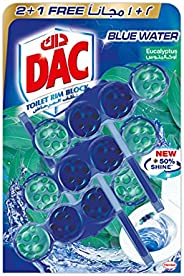 DAC Toilet Rim Block Blue Active - Eucalyptus (150g - Pack of 3 x 50g) Blue Water + Cleanliness, with 50% More