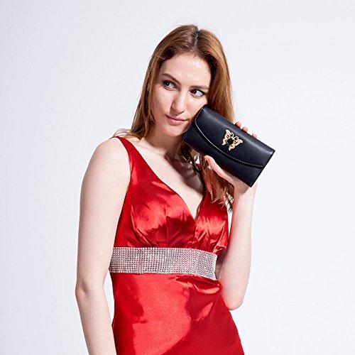 MaiJin Elegante PU Pelle Portafoglio Donna Nero