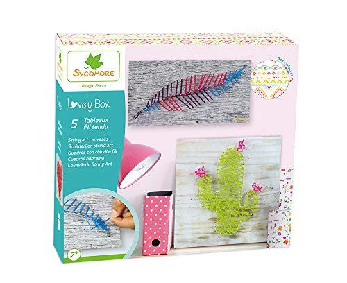 Kit de loisir créatif enfant - 5 tableaux fil tendu - DIY -...
