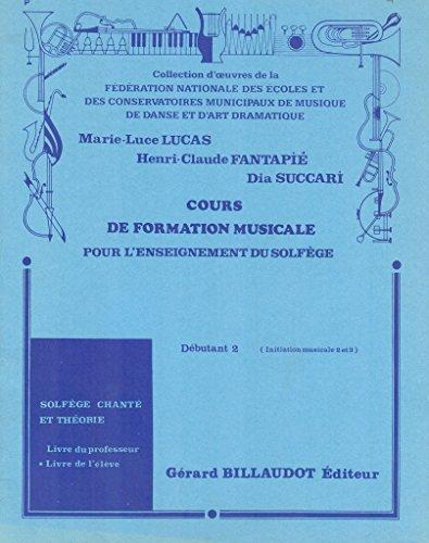 Cours formation musicale Débutant 2 Elève Solfège chanté et théorie