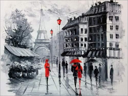 Posterlounge Acrylglasbild 70 x 50 cm: Die Straßen von Paris von Olha Darchuk - Wandbild, Acryl Glasbild, Druck auf Acryl Glas Bild