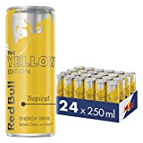 Red Bull Energy Drink Tropical 24 x 250 ml OHNE Pfand Dosen Getränke, Yellow Edition 24er Palette