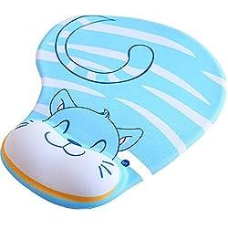 Daorier Mouse Mat 3d, Non-slip Silicone Wrist Rest, Mouse Mat Wrist Rest, Ergonomic Comfort Gel, Mouse Pad, Red Sheep
