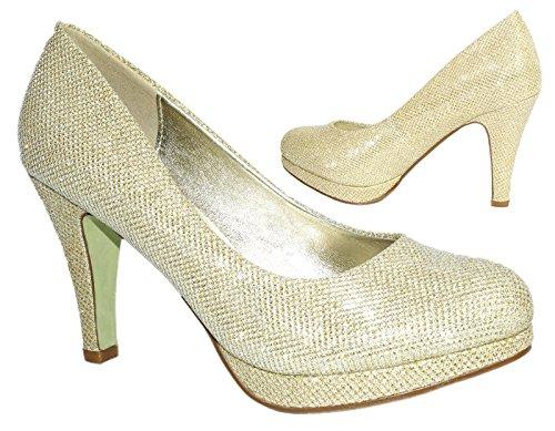 Elara - Scarpe con plateau Donna Oro (oro)