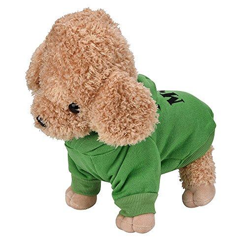 mxjeeio Haustier Hund Schlafanzüge Overalls Mantel Kleidung Bekleidung Pet Hundemantel-Jacke für Klein- und Mittelunter Hunde, Brustschutz Harness