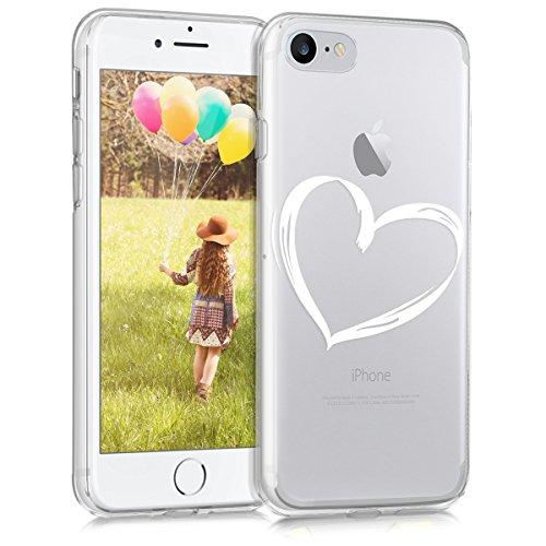 kwmobile Apple iPhone 7/8 Hülle - Handyhülle für Apple iPhone 7/8 - Handy Case in Weiß Transparent