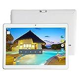 Smart Tablet Dual SIM double veille 10.1 pouces MTK6592 huit Core 4G + 64G Android 6.0 double carte double caméra tablette Tablet PC, Lanspo Vente Cadeau pour les copines d'amis (235 * 165 * 10mm, White)