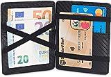 TRAVANDO  Magic Wallet mit Münzfach Cancun Geldbörse Herren klein Slim Portemonnaie Mini Wallets for Men Geldbeutel Männer dünn Portmonee Brieftasche Geschenk Kreditkartenetui Portmonaise Portmonai